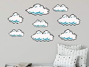 nonbrand - Adhesivo de pared de 54 cm, diseño de nubes de Super Mario