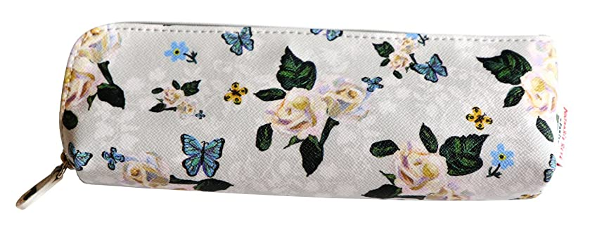 7321 Design Flower Slim Pencil Pouch by Nathalie Lete - Roses
