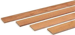 wodewa - Listón de madera de cerezo engrasado, 1 m, 30 x 4 mm, moldura decorativa para revestimientos de pared, para cubrir el suelo, DIY manualidades