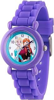 ساعة ديزني للبنات - انالوج كوارتز مع حزام سيليكون - أرجواني، 16 موديل WDS00004