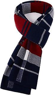 HHYZ マフラー チェック柄 ウール フワフワ かけ心地抜群 冬用 防寒 メンズファッション プレゼント リボンbox付き