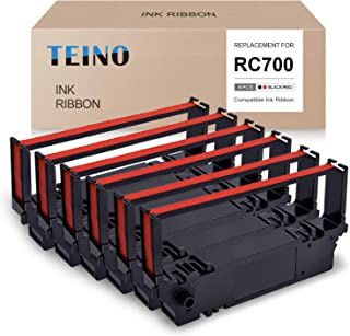 TEINO Compatible Ink Ribbon Replacement for Star RC700 RC700BR use with Star SP700 SP742 SP712 SP747 (Black Red, 6-Pack)