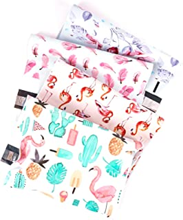 RUSPEPA Poly Mailers 10x13 Shipping Bags 2.3 Mil Variety Pack - Summer, Flamingo, Floral, Feather Printed Self Seal Mailin...