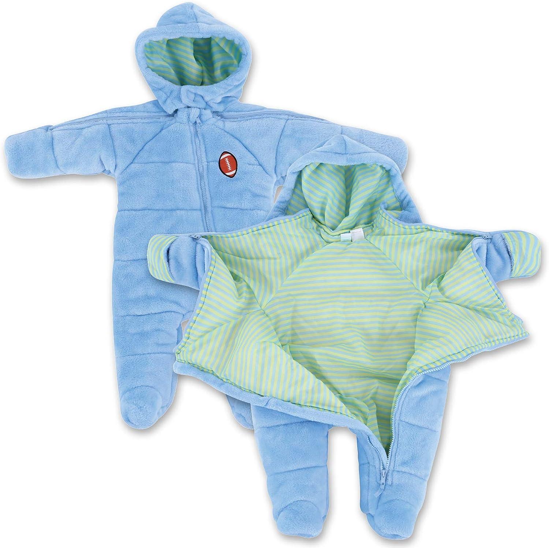 Infant Boy EZ Off Full Zip Hooded Warm Jacket - Great for Sleepi