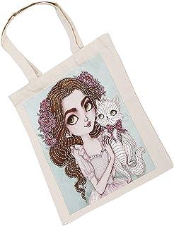 Reusable Diamond Painting Bag, Elegant Practical Stylish Diamond Painting Tote Bag for Shoulder Bag for Shopping Bag for F...