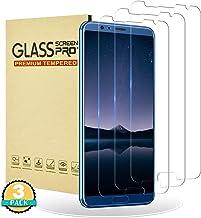 RIIMUHIR Protector de Pantalla para Huawei Honor View 10,[3 Unidades] Cristal Templado para Huawei Honor View 10 [Cobertura Completa] [Dureza 9H] [Anti-Arañazos] [Anti Huellas Digitales]