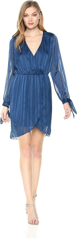 Ali & Jay Womens Longsleeve V Neck WRAP Bodice Dress Dress