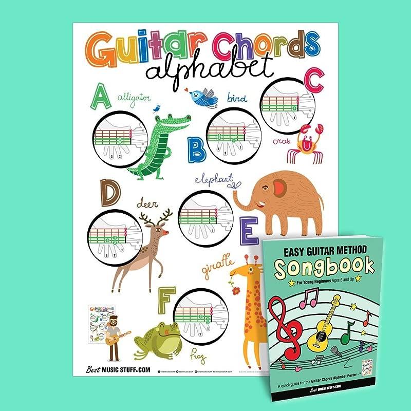 Guitar Chords Alphabet Kids Poster 16 X 20 Easy Guitar Method Songbook Best Music Stuff