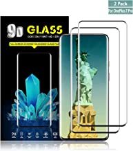 Oneplus 7 Pro Screen Protector by YEYEBF, [2 Pack] Full Coverage Tempered Glass Screen Protector for Oneplus 7 Pro[3D Touch][Bubble-Free][Case-Friendly][Anti-Scratch]