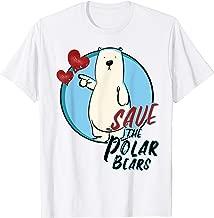 Save The Polar Bears T-Shirt | Ice Bear TShirt Women Kids