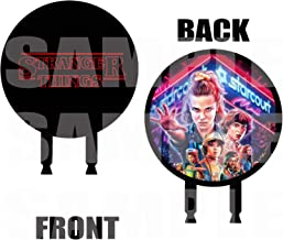 Stranger Things Cake Topper, 6 inch Round Circle 2 Sided Centerpiece Different Images Movie, 1 pc, Eleven Mike Dustin Lucas Will Steve Nancy Jonathon Joyce Jim Max Billy