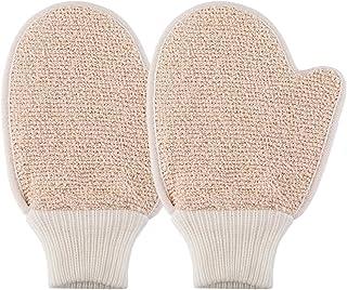 Cabilock 2pcs Exfoliating Gloves Foaming Bath Shower Scrubber Body Dead Skin Remover Gloves for Travel Home Hotel Bathing Massaging