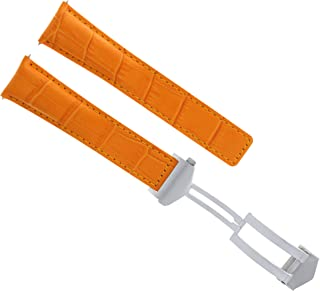 19MM LEATHER STRAP BUCKLE FOR TAG HEUER CARRERA TWIN TIME CALIBRE 7 ORANGE 3TC