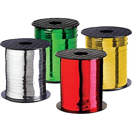 Lot of 3 packages of 3 spools each New Christmas curling ribbon by Hallmark