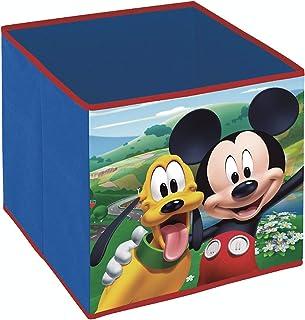 Superdiver Cube Organisateur Pliable en Tissu pour Filles de Disney Mickey Mouse - Boîte de Rangement pour Jouets Compatib...