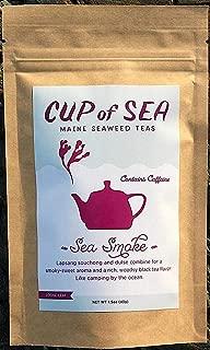 Sea Smoke Dulse Flakes Lapsang Souchong - 1.5 oz Chinese Loose Tea - Cup of Sea - Atlantic Ocean Maine Coast Seaweed - Caffeine - Smoky-Sweet Aroma w/ Rich - Woodsy Black Tea Flavor (COS SS1.5 oz)