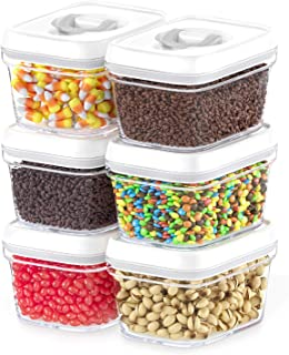 DWËLLZA KITCHEN Airtight Food Storage Containers with Lids – 6 Pieces All Same Size - Pantry Container for Spices, Candy, ...
