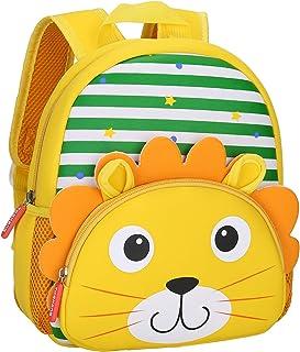 BAIGIO Mochila Infantil Kindergarten,Pequeñas Mochilas Bolsas Escolares de Dibujos Animados Animales para Niñas Primaria L...
