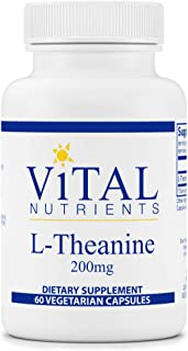 Vital Nutrients - L-Theanine - Supports Normal Stress Levels and Cognitive Function - 60 Capsules per Bottle - 200 mg