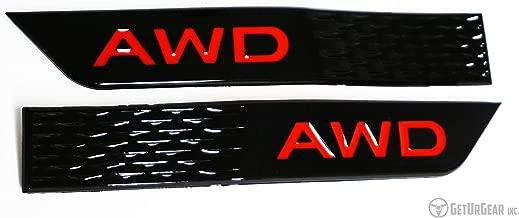 GetUrGear Fender Emblem Badge - compatible with 2015+ WRX/STI (Gloss Black, Red AWD)