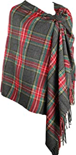 Long & Wide Scottish Clan Tartan Plaid Cashmere Feel Shawl Wrap Winter Warm Scarf 80