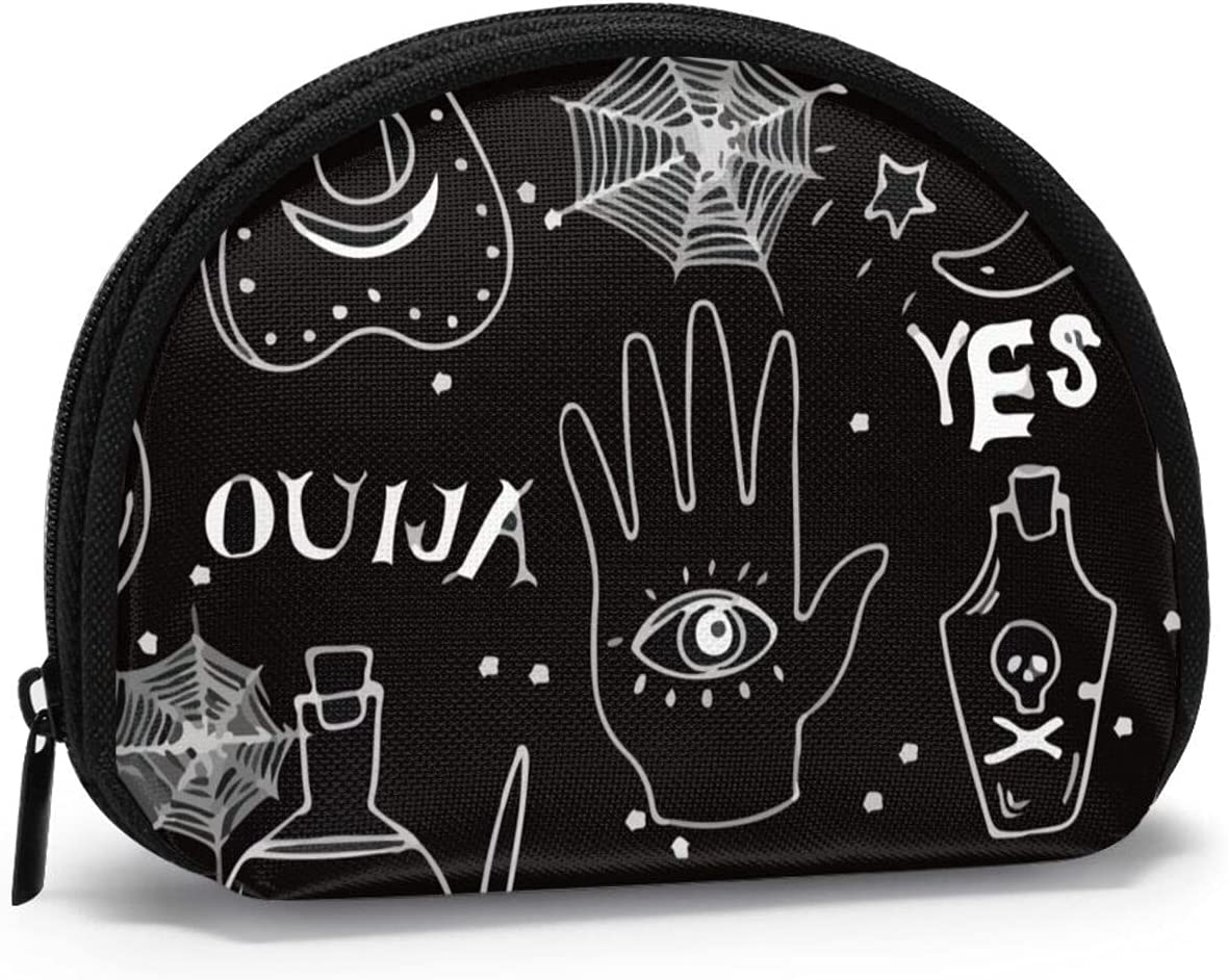 Women Change Very popular Coin Purse Ouija Cat Halloween Shell S Pattern Limited price Girl
