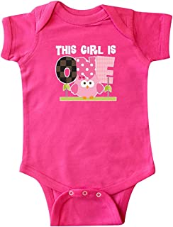 inktastic 1st Birthday Owl Girls Cute Infant Creeper