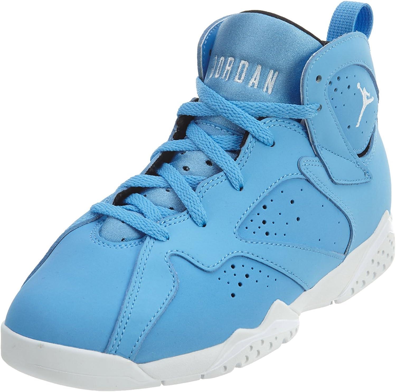Jordan 7 BP sold out Little Kids PS University Brand Cheap Sale Venue Blue White 3 Black Shoes