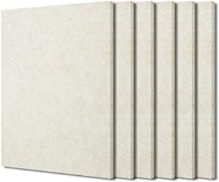 BXI Sound Absorber - Acoustic Absorption Panel - Polyester Fiber - Multiple Color Options - 16'' X 12'' X 3/8'' - 6 PACK (...