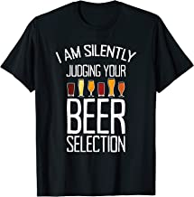 Funny Craft Beer Drinking Silently Judging Beer Snob T-Shirt