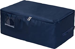 DOKEHOM XX-Large Under Bed Storage Bag (5 Colors), Thick Ultra Size Fabric Clothes Bag, Moisture Proof (Dark Blue, XXL)