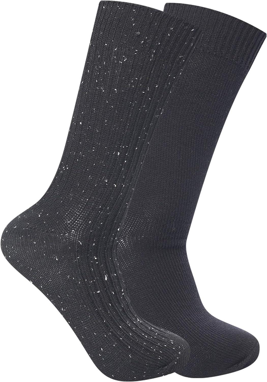 Frye Men's 2-Pack Tweed Ribbed Boot Socks, Black, One Size