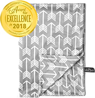 "Kids N' Such Minky Baby Blanket 30"" x 40"" – Grey Arrow – Soft.."