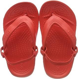 Crocs Baby Classic Flip K Flop, Flame, 6 M US Toddler
