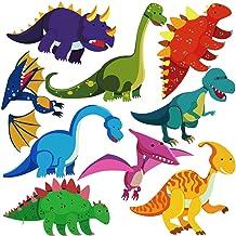 DEKOSH Dinosaur Wall Decals for Nursery Decor   Jurassic World T-rex Colorful Peel & Stick Animal Kids Wall Stickers for B...