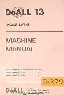 Doall 13, LD 1320 40 & 60 Inch, Engine Lathe, Machine Manual