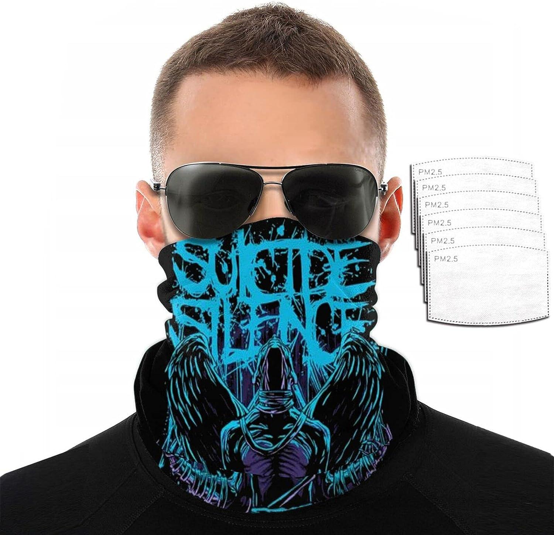 Suicide Silence Face Cover Mouth Mask Bandana Neck Gaiter for mountain climbing