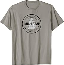 Up North Michigan 1837 Great Lakes Latitude and Longitude T-Shirt