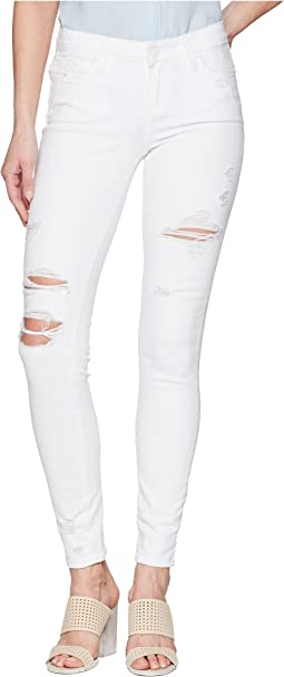 Paige Verdugo Ultra Skinny in Bright White Destructed