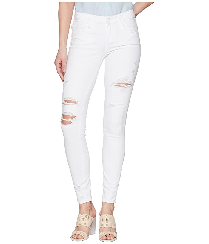 PAIGE Skyline Ankle Peg in Bright White Destructed