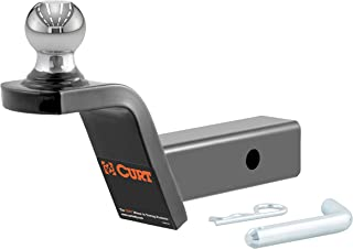 CURT 45152 Fusion Trailer Hitch Ball Mount with 1-7/8-Inch Trailer Hitch Ball & Hitch Pin, Fits 2-Inch Receiver, 5,000 lbs. GTW, 2-Inch Rise