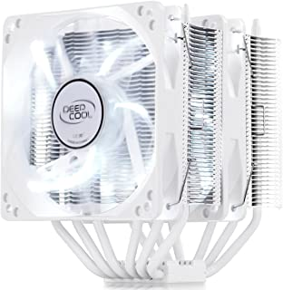 DEEP COOL NEPTWIN Blanco, Disipador de CPU, 6 Tubos de Calor, Doble Torre, 2 * 120 mm CPU Ventiladores, Color Blanco