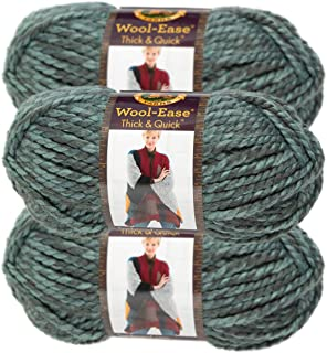 Lion Brand Yarn (3 Pack) Wool Ease Super Chunky Yarn for Knitting Crocheting Soft Yarn Bulky #6