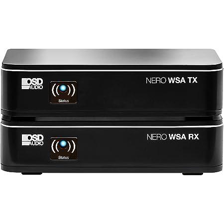 OSD Audio Wireless 5.8G Subwoofer Transmitter/Receiver Kit Dual Source, Diversity Antennas and Brackets Nero-WSA