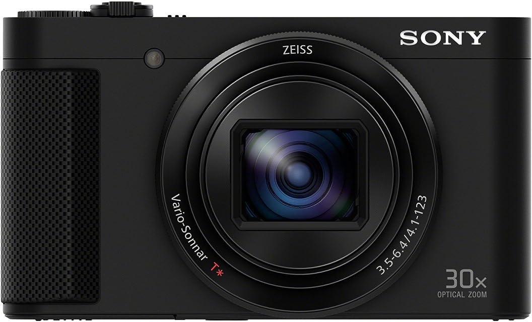 Sony Cyber-Shot DSC-HX90 - Cámara compacta de 18.2 Mp (pantalla de 3 zoom óptico 30x sensor Exmor R visor OLED pantalla para selfies Wi-fi/NFC) negro con estabilizador de imagen