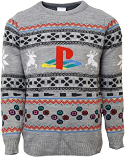 Official Playstation Console Christmas Jumper/Ugly Sweater UK S/US XS Grey