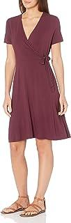 Amazon Essentials Women's Cap-Sleeve Faux-wrap Dress