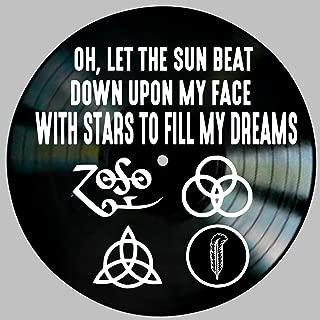 Kashmir Song Lyric Art inspired by Led Zeppelin Vinyl Record Album Wall Decor