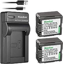 Kastar Battery (X2) & Slim USB Charger for Panasonic VW-VBG070, VW-VBG130, VWVBG260 and SDR-H40, SDR-H80 Series, HDC-HS700...