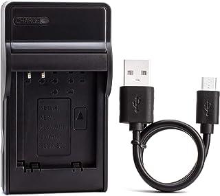 DMW-BCM13 Caricabatterie USB Ultrasottile per Panasonic DMC-TZ55, DMC-TZ60, DMC-TZ61, Lumix DMC-FT5, DMC-TS5, DMC-TZ70, DM...